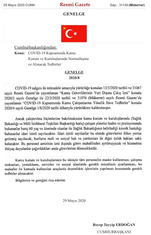 Kamu çalışanlarıyla ilgili idari izinleri yeniden düzenleyen genelge yayınlandı