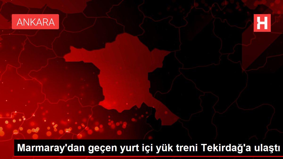 Marmaray'dan geçen yurt içi yük treni Tekirdağ'a ulaştı