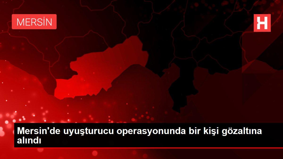 Mersin'de uyuşturucu operasyonunda bir kişi gözaltına alındı