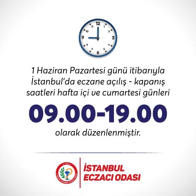Normalleşme süreciyle birlikte İstanbul'da eczanelerin de çalışma saatleri değişti