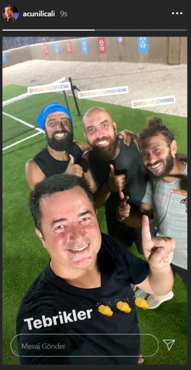 Survivor'da yapılan ayak tenisi maçına Sercan Yıldırım damga vurdu! Acun Ilıcalı'nın takımını mağlup ettiler