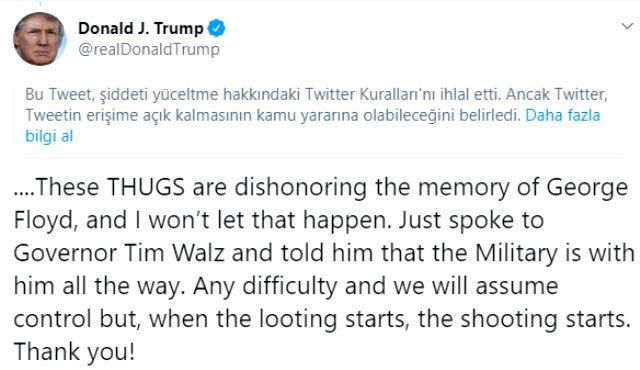 Twitter, Donald Trump'ın ardından Beyaz Saray'ın tweetini de engelledi