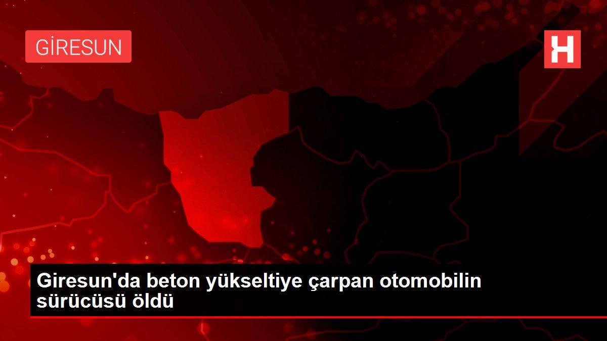 Giresun'da beton yükseltiye çarpan otomobilin sürücüsü öldü