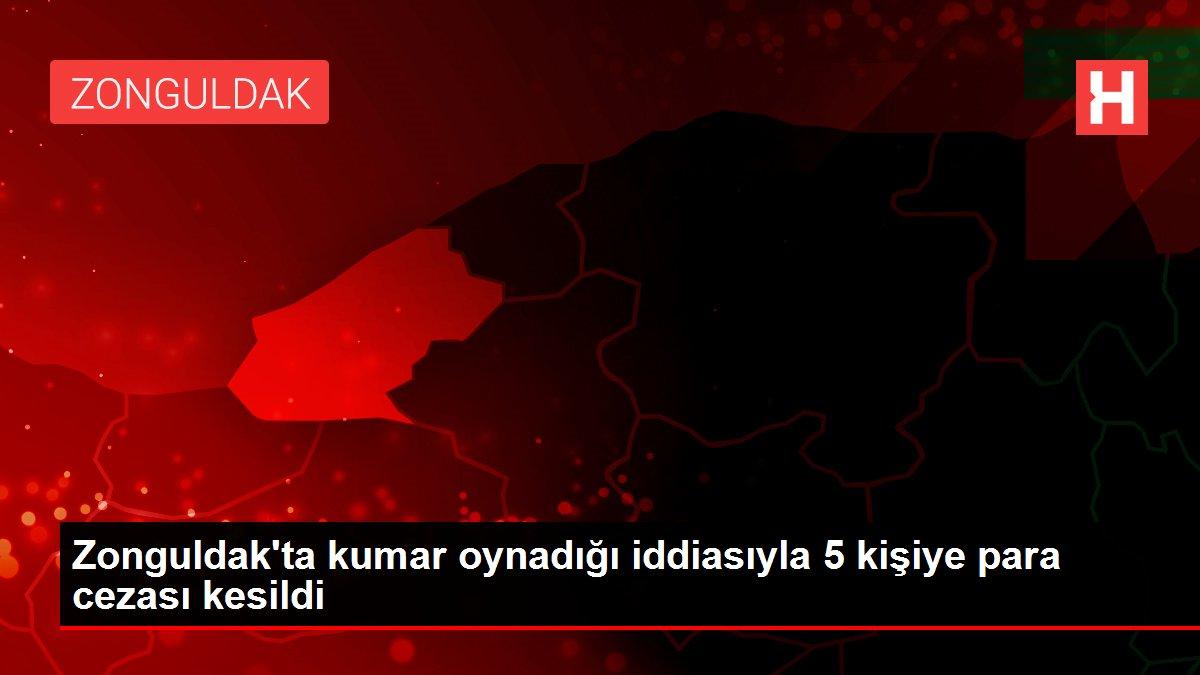 Zonguldak'ta kumar oynadığı iddiasıyla 5 kişiye para cezası kesildi