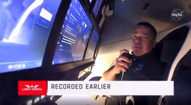 Crew Dragon'daki astronotlar yörüngeden ilk görüntülü bağlantıyı kurdu