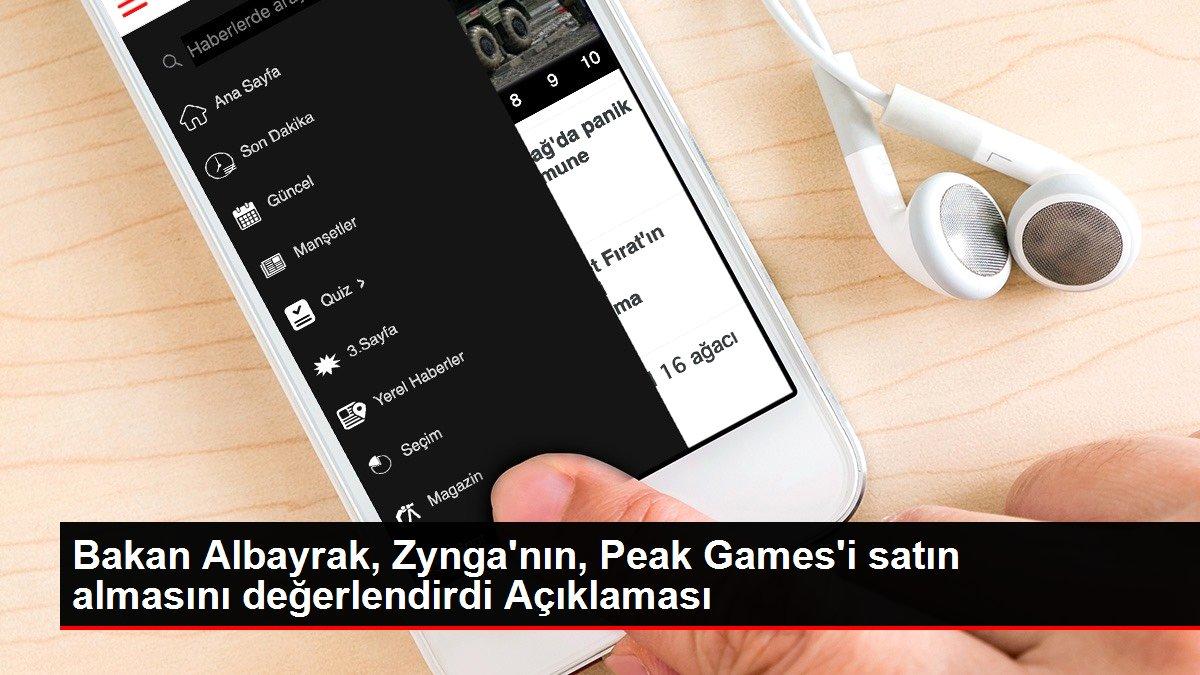 Son dakika haberi... Bakan Albayrak, Zynga'nın, Peak Games'i satın almasını değerlendirdi Açıklaması