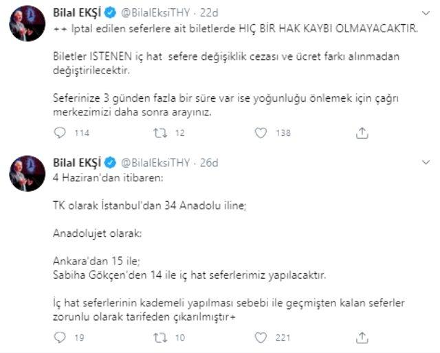 Son dakika: Türk Hava Yolları'nın İstanbul ve Ankara'dan Anadolu'ya yapılacak seferleri 4 Haziran'da başlıyor
