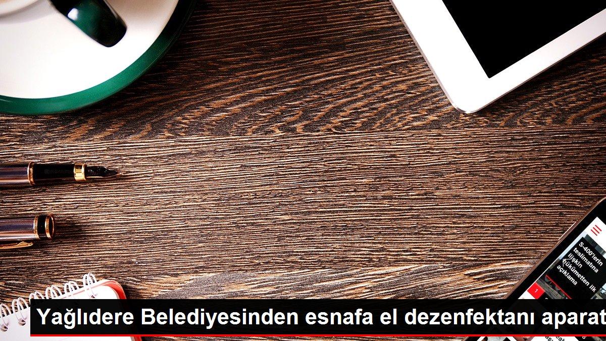 Yağlıdere Belediyesinden esnafa el dezenfektanı aparatı