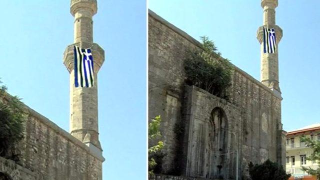 Yunan'ın Ayasofya hazımsızlığı devam ediyor! Tarihi camiye bayrak astılar