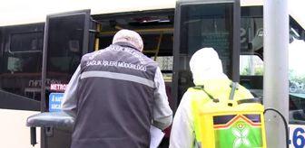 Bahçelievler'deki minibüsler Kovid-19'a karşı dezenfekte edildi (2)
