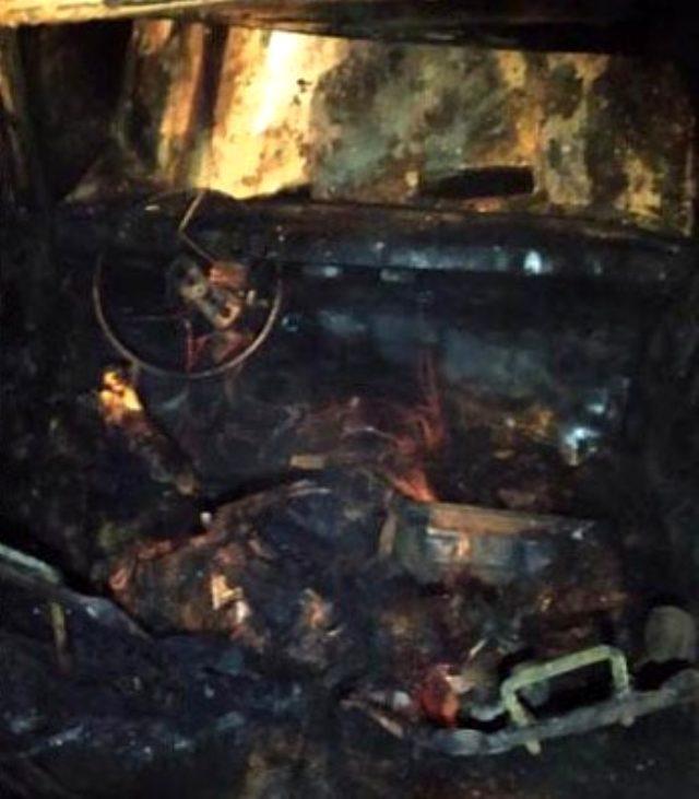 Dere yatağına düşen otomobil alev aldı! Sürücü hayatını kaybetti