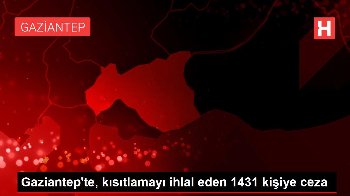 Gaziantep'te, kısıtlamayı ihlal eden 1431 kişiye ceza