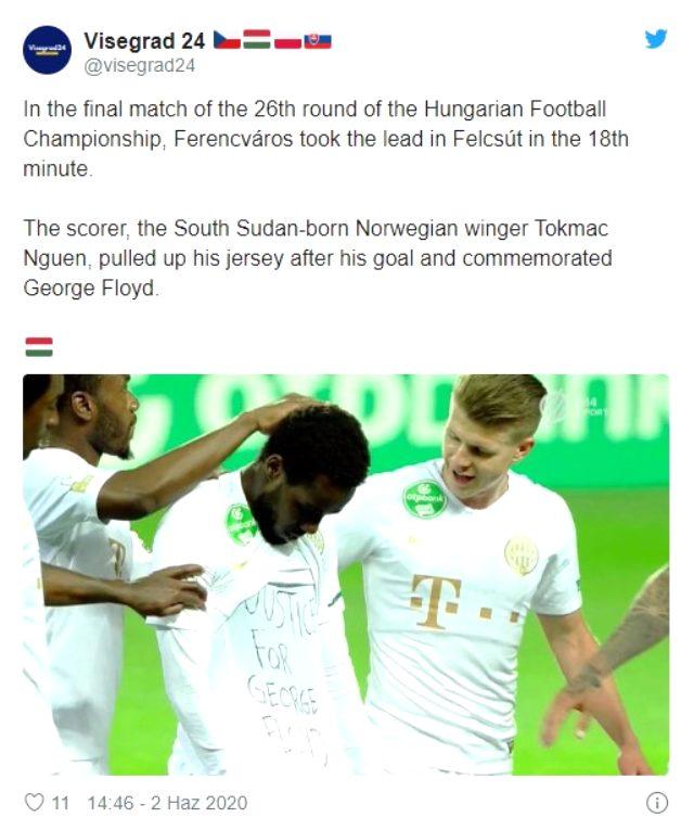George Floyd olayına dikkat çekmek isteyen futbolcu cezaya çarptırıldı
