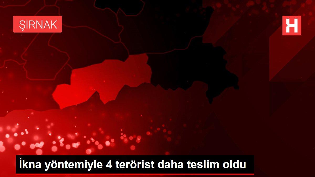 İkna yöntemiyle 4 terörist daha teslim oldu