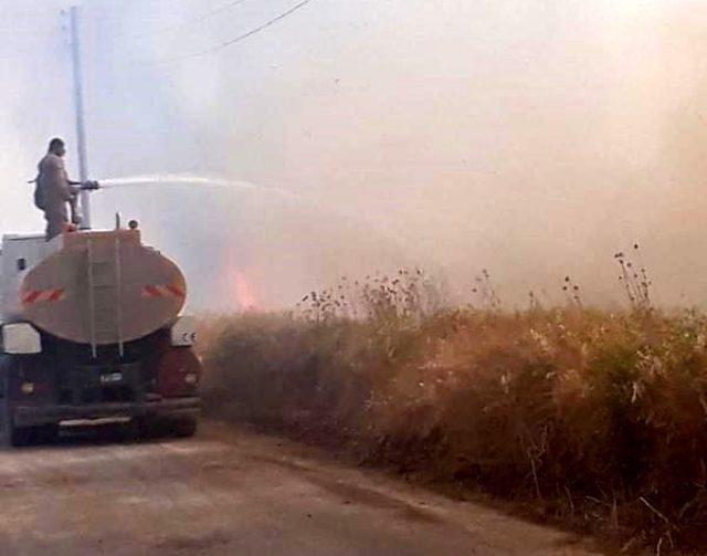 Tarım arazisindeki bu yangın basit bir yangın değil, terörün insanlığa açtığı savaşın delili