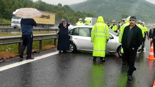 TEM'de 25 aracın karıştığı zincirleme kaza meydana geldi