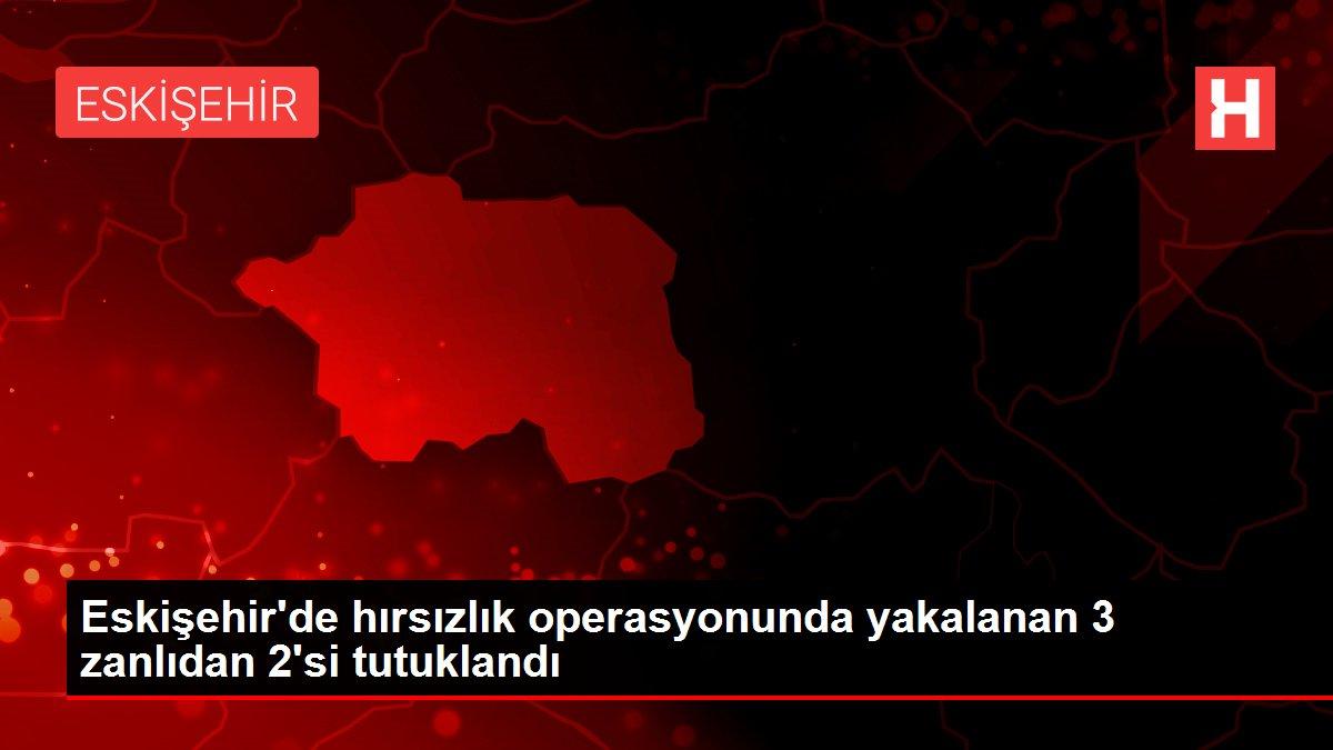 Eskişehir'de hırsızlık operasyonunda yakalanan 3 zanlıdan 2'si tutuklandı