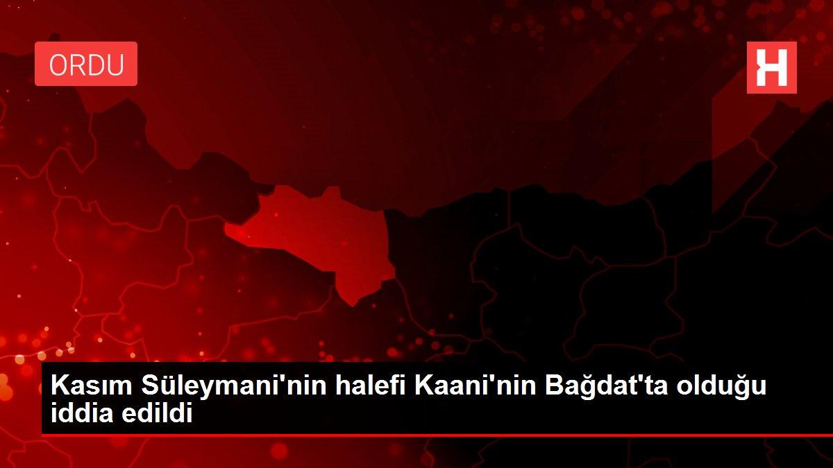 Kasım Süleymani'nin halefi Kaani'nin Bağdat'ta olduğu iddia edildi