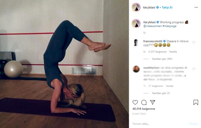 İtalyan efsanenin eşinden yoga paylaşımı! Yaptığı hareket yürekleri ağza getirdi