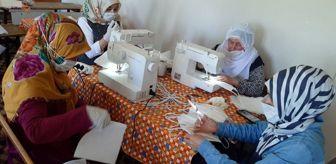 Halk Eğitimi Merkezi: Son dakika haberi... Mahallenin kadınları maske üretmek için gönüllü oldu