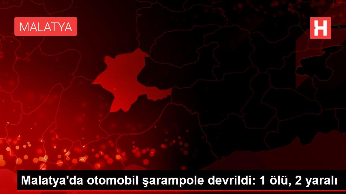 Malatya'da otomobil şarampole devrildi: 1 ölü, 2 yaralı