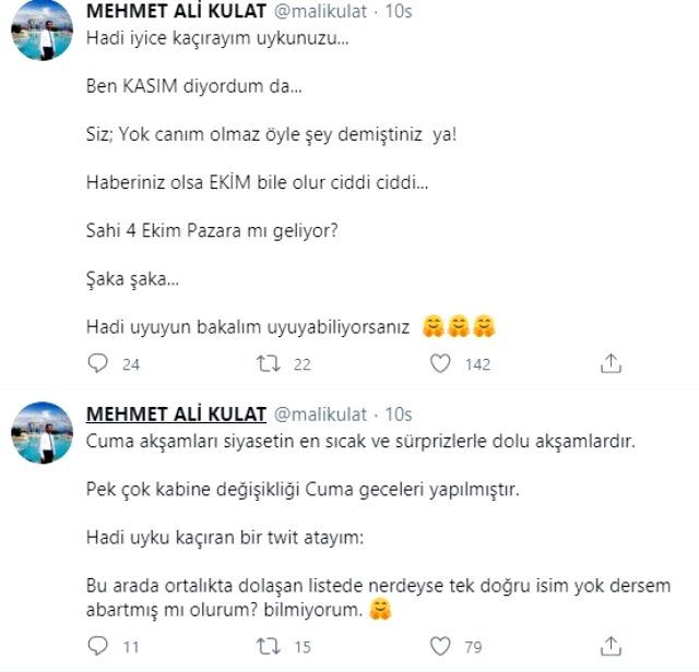 Ünlü anketçi Mehmet Ali Kulat, erken seçim için 4 Ekim Pazar gününü işaret etti