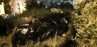 Dha: Bursa'da otomobil şarampole yuvarlandı, 3 yaralı
