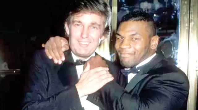 Eşini kıskanan ünlü boksör Mike Tyson, Donald Trump'ı dövmeye kalktı