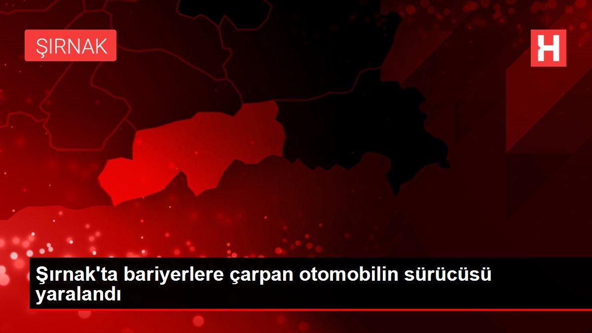Şırnak'ta bariyerlere çarpan otomobilin sürücüsü yaralandı