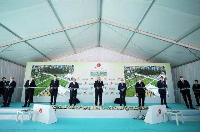Son dakika: Cumhurbaşkanı Erdoğan, vatandaşa nefes aldıracak 10 millet bahçesini daha hizmete açtı