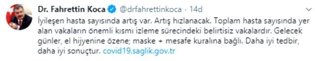 Son Dakika: Türkiye'de 5 Haziran günü koronavirüsten 18 kişi vefat etti, 930 yeni vaka tespit edildi