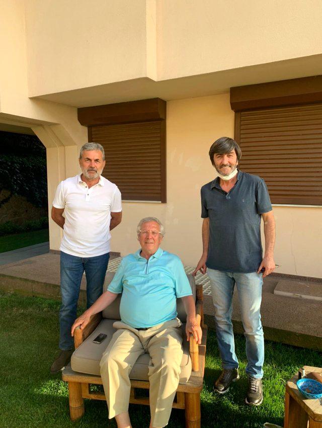Aykut Kocaman ve Rıdvan Dilmen'den Aziz Yıldırım'a sürpriz ziyaret