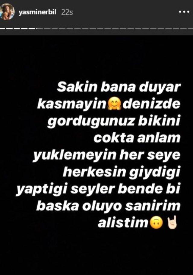 Cesur bikinisiyle poz veren Mehmet Ali Erbil'in kızı Yasmin Erbil, kendisini eleştirenlere sert çıktı: Bana duyar kasmayın