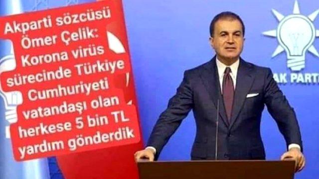 Ömer Çelik'ten 'Herkese 5 bin lira yardım gönderdik' iddialarına yanıt: Montajdır