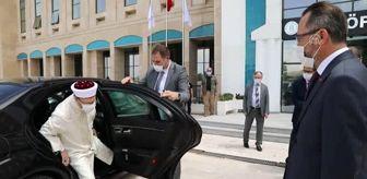 Baki Demirbaş: Diyanet İşleri Başkanı Erbaş, AYBÜ'de yapılacak cami alanında incelemelerde bulundu