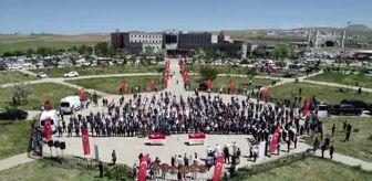 (DRONE) Çatak'taki terör saldırısında şehit olan 2 işçi için tören düzenlendi