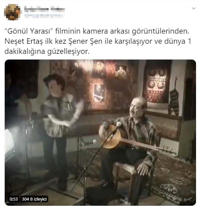 Şener Şen ve Neşet Ertaş'ın yıllar önce çekilen ilk karşılaşma videoları Twitter'da gündem oldu