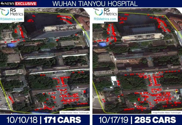 Uydu fotoğraflarına göre koronavirüs Çin'de 2019 yazında yayılmaya başlamış