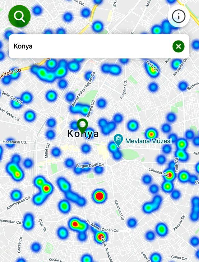Bakan Koca'nın uyardığı 3 bölgenin koronavirüs yoğunluk haritası