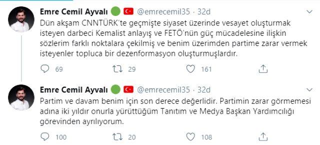 FETÖ ile ilgili sözleri gündem olan AK Parti Tanıtım ve Başkan Yardımcısı Emre Cemil Ayvalı istifa etti