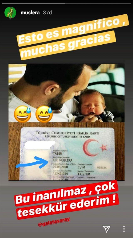 Galatasaraylı Muslera, oğluna kendi adını koyan taraftara teşekkür etti