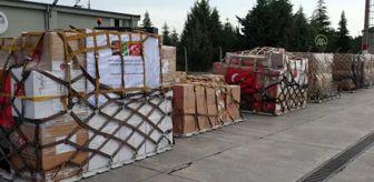 Güneşler: Türkiye'den Afganistan'a tıbbi yardım götüren uçak havalandı (3)