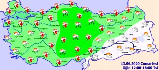 Meteoroloji tüm yurdu uyardı: Kuvvetli yağışlar devam edecek