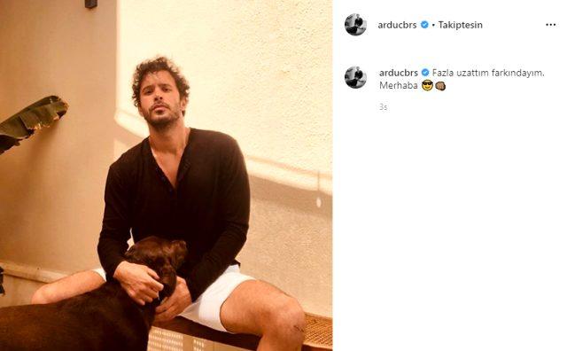 Yakışıklı oyuncu Barış Arduç, yeni imajını takipçileriyle paylaştı