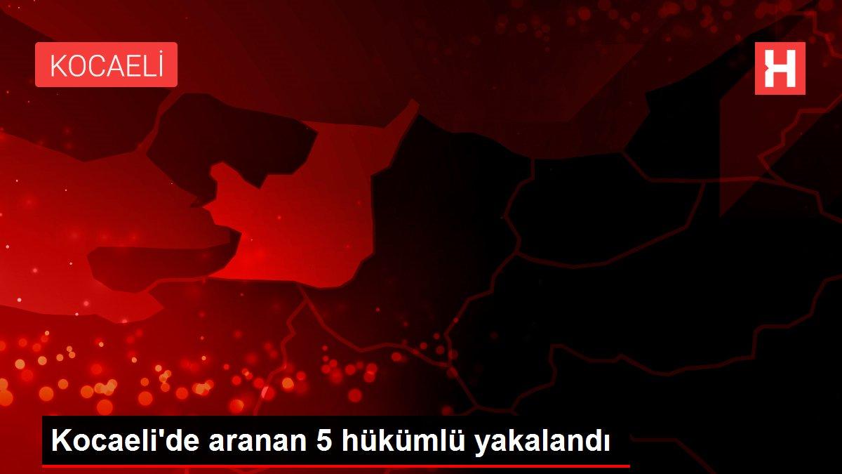 Kocaeli'de aranan 5 hükümlü yakalandı