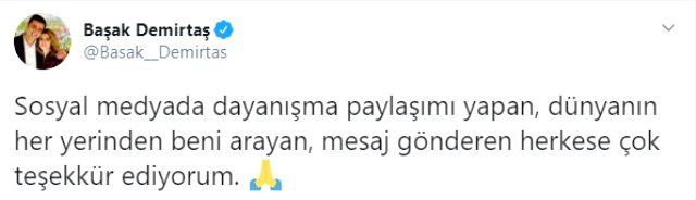 Başak Demirtaş, kendisine yapılan hakarete karşı destek verenlere teşekkür etti