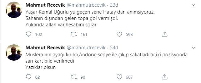 Galatasaray yöneticisi Mahmut Recevik hakeme tepkili: Allah hesabını sorar, yazıklar olsun