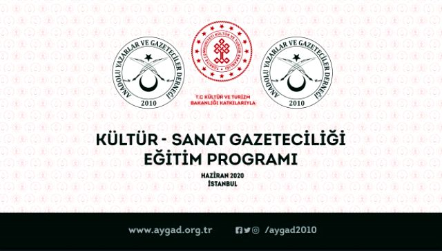 AYGAD'ın 4 gün sürecek Kültür ve Sanat Gazeteciliği Eğitimi projesi start alıyor