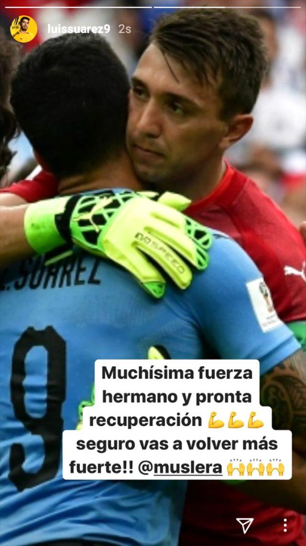 Barcelona'lı Luis Suarez'den Muslera'ya geçmiş olsun mesajı