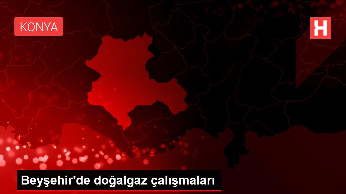 Beyşehir'de doğalgaz çalışmaları